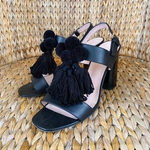 Kate Spade Black Stylish Tassel Heels